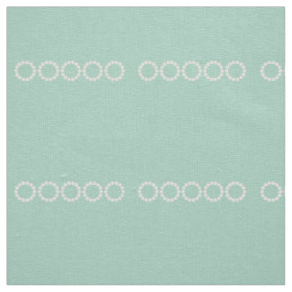 Divine Mint Green Retro Pattern Fabric