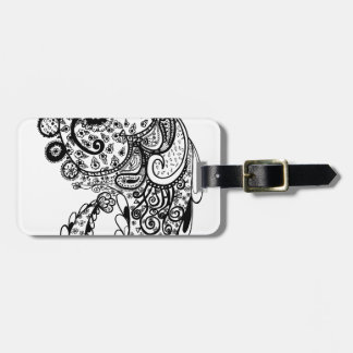 Divine Paisley Luggage Tag