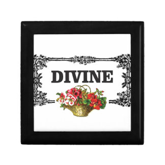 divine pink flowers small square gift box