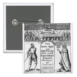 Divine Right Original Civil Magistrate from 15 Cm Square Badge