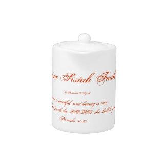 Divine Sistah of Faith Small Tea Pot