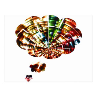 Divine Thoughts - Red Sparkle Cosmic Art Postcard