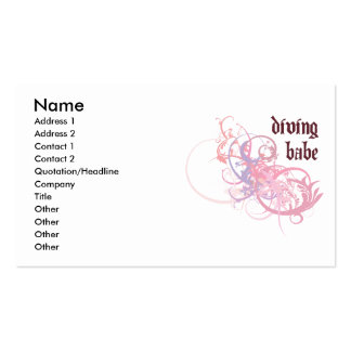 Diving Babe Business Card Templates