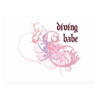 Diving Babe Postcard