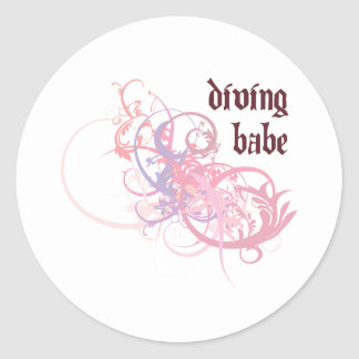 Diving Babe Stickers
