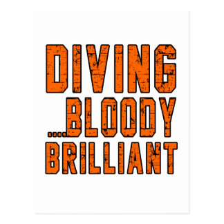 Diving Bloody Brilliant Postcard