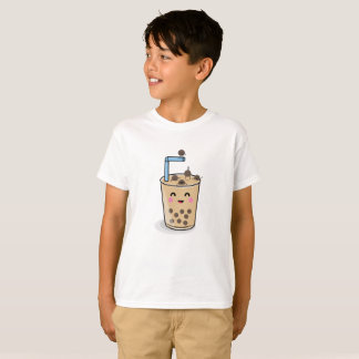 Diving Boba Pearl Tea Kids Shirt