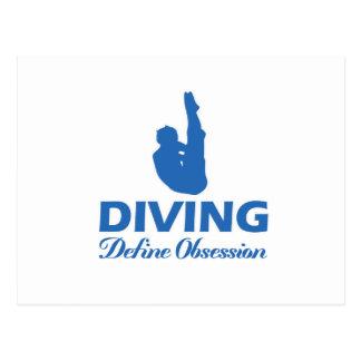 diving design postcard