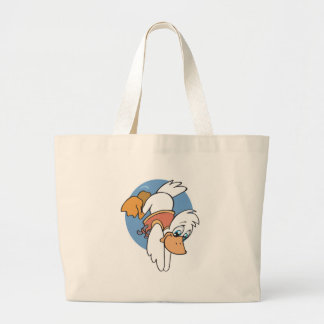 diving duck large tote bag