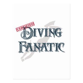Diving Fanatic Postcard