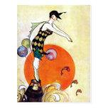 Diving Flapper Girl Postcard
