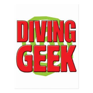 Diving Geek Postcard