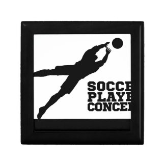 Diving Goal Keeper Silhouette Soccer Player Gift Box