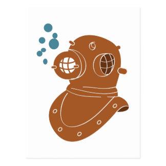 Diving Helmet Postcard