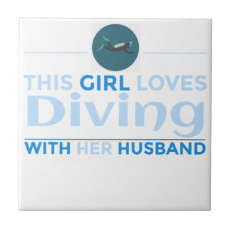 diving_husband ceramic tile