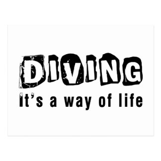 Diving It's a way of life Postcard