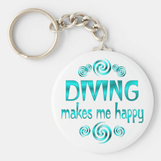 Diving Makes Me Happy Key Ring