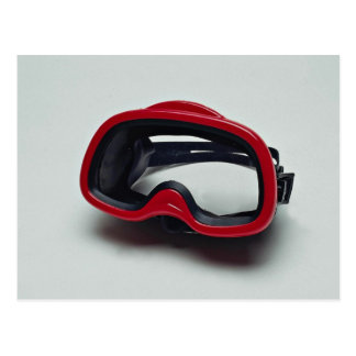 Diving mask for swimmers post card