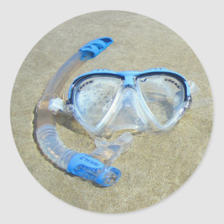 Diving Mask in the Sand Stickers