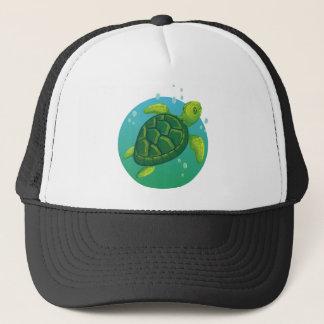 Diving more water ocean sea turtle trucker hat