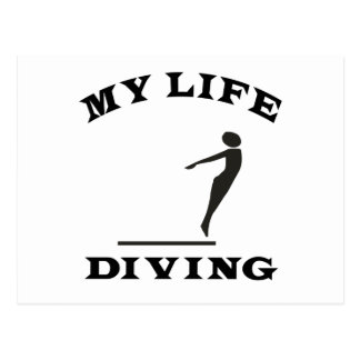 Diving My Life Postcard