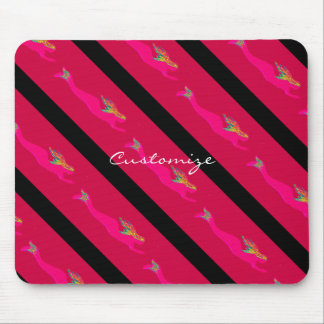 diving pink mermaids mouse pad