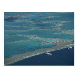 Diving platforms near reef, Great Barrier Postcard