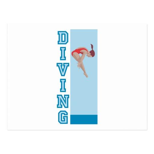 Diving Post Card