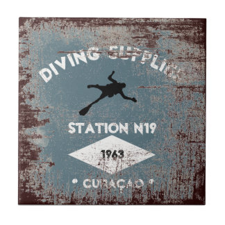 Diving Supplies Ceramic Tile