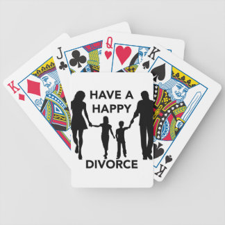 divorce bicycle playing cards