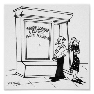 Divorce Cartoon 2458 Poster
