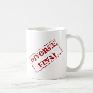 Divorce Final Stamp Coffee Mugs
