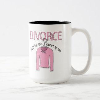 Divorce for the closet space mug