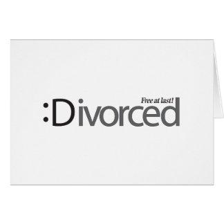 DIVORCE - free at last Card