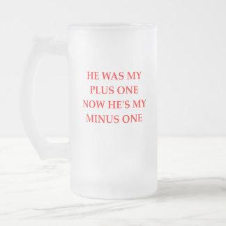 divorce frosted glass beer mug