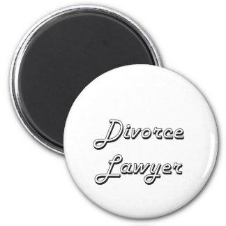 Divorce Lawyer Classic Job Design 6 Cm Round Magnet