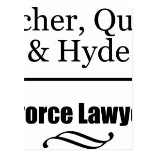 Divorce Lawyers Postcard