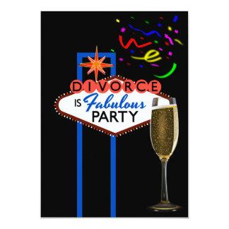 Divorce Party Las Vegas themed personalized 13 Cm X 18 Cm Invitation Card