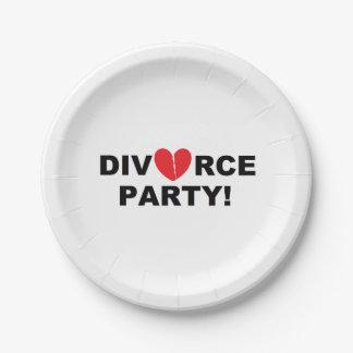 """""""Divorce Party"""" Paper Plates"""