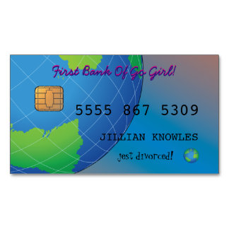 Divorce Personalize Go Girl Bank Debit Magnetic Business Cards