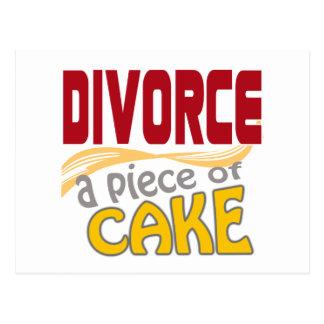Divorce - Piece of Cake Post Card