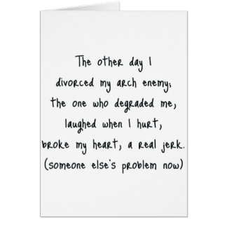Divorce Poem Card