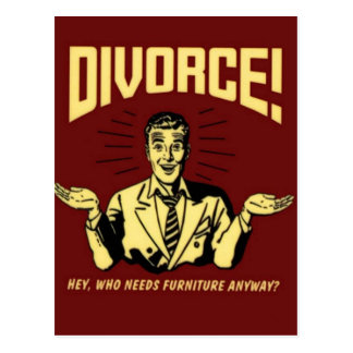 Divorce Postcard