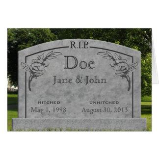 Divorce - RIP Card - change text