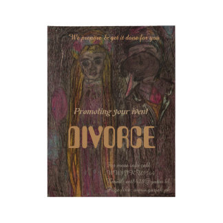 """Divorce"" Vintage stile poster Wood Poster"