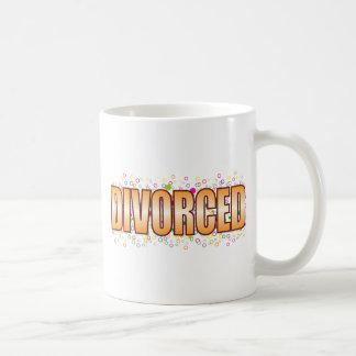 Divorced Bubble Tag Basic White Mug