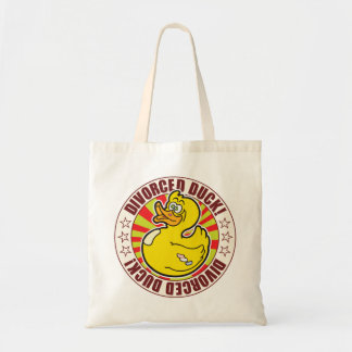 Divorced Duck Budget Tote Bag