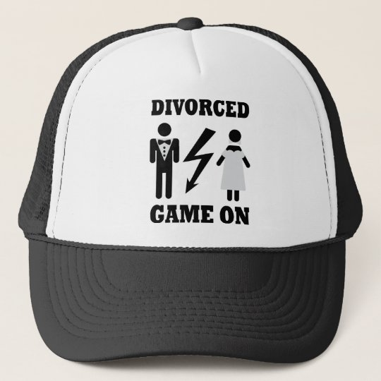 divorced game on icon trucker hat