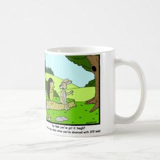Divorced: Rabbit Cartoon Coffee Mug