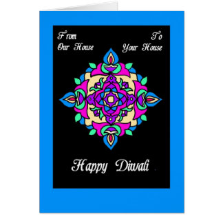 Diwali Greeting Card from Our House to Yours